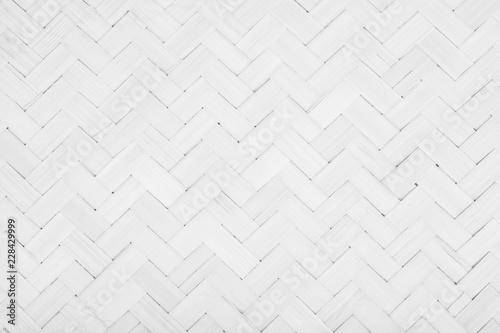 Fotografiet  Gray Mat Traditional handicraft bamboo weave texture background