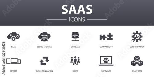 Fotografía  SaaS simple concept icons set