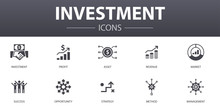 Investment Simple Concept Icon...