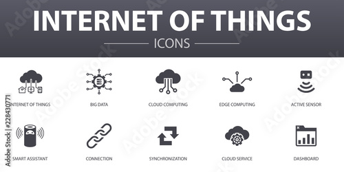 Fotografía  Internet of things simple concept icons set