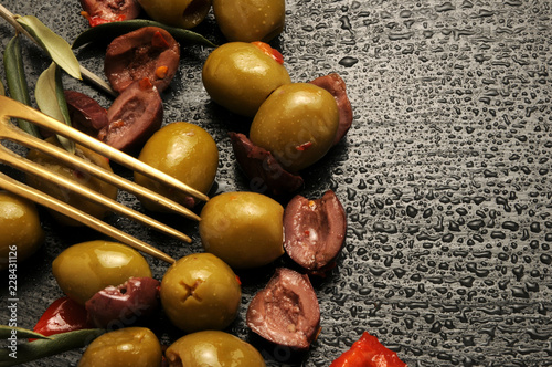 Foto op Canvas Buffet, Bar Olive ft81030036