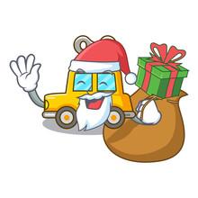 Santa With Gift Clockwork Toy ...
