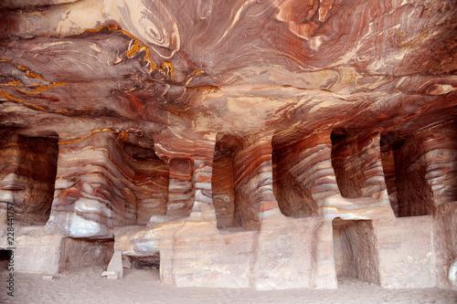 Fotobehang Midden Oosten Ruins of Petra, Lost rock city of Jordan, Middle East