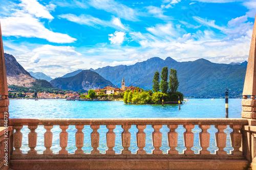 Fotografie, Obraz  Isola dei Pescatori, fisherman island in Maggiore lake, Borromean Islands, Stres