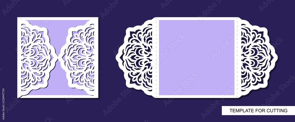 Obrazy Na Płótnie Silhouette Of Greeting Card Template