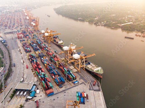 Container cargo ship an important transportation and