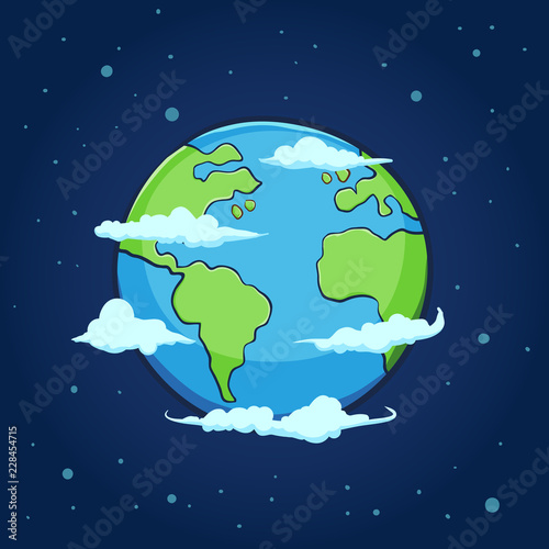 Obraz Planet Earth Hand Drawing - fototapety do salonu