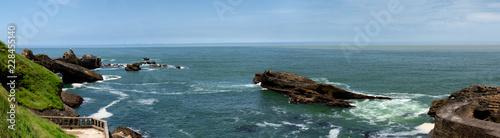 Fotografiet ocean panorama with rocks