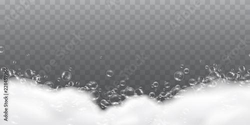 Valokuva  Foam effect isolated on transparent background
