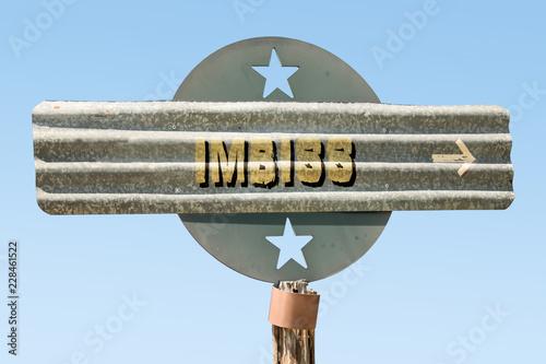 Fotografie, Obraz  Schild 331 - Imbiss