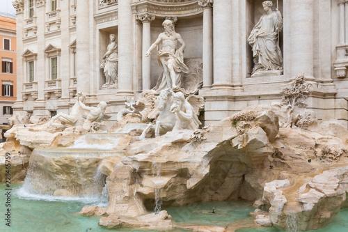 Foto op Aluminium Rome Famous the Trevi Fountain in Rome. Italy.