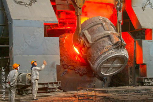 steel mills converter filling materials Canvas-taulu