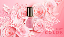 Pink Nail Lacquer Ads