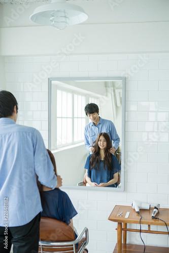 美容室シーン