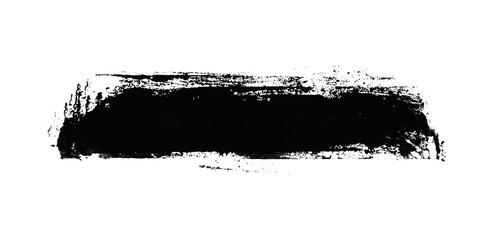 Gemalter schmutziger Streifen mit schwarzer Farbe
