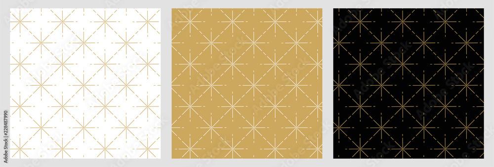 Fototapety, obrazy: Élégant motif étoile raccord avec dessin traditionnels doré pour fond et arrière plan de noël