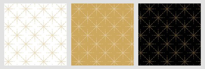 Fototapeta Élégant motif étoile raccord avec dessin traditionnels doré pour fond et arrière plan de noël