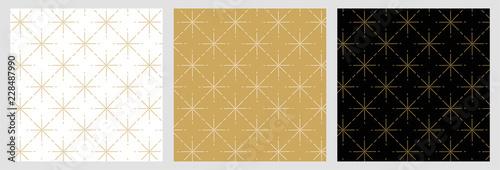 Élégant motif étoile raccord avec dessin traditionnels doré pour fond et arrière Canvas Print