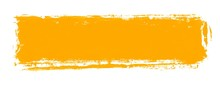 Gemalter Breiter Farbstreifen Orange