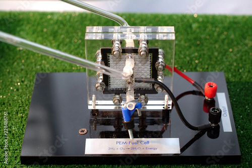 Fotografia  Experimentation in the laboratory for hydrogen production