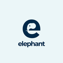 Elephant Abstract Vector Logo ...