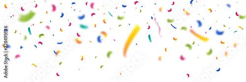 Obraz Konfetti Banner farbig Schnipsel - fototapety do salonu