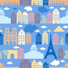Seamless Pattern With France, ...