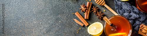 Fotografie, Obraz  Autumn winter hot spicy tea