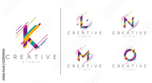 Photo  Letter logo set