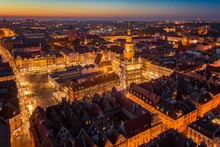 Evening Aerial View On Poznan ...