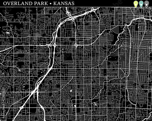 Simple Map Of Overland Park Kansas Buy This Stock Vector And