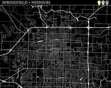 Simple Map Of Springfield, Mis...