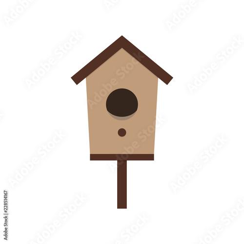 Fotografia cartoon birdhouse on white