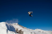 Snowboarder Jumping, Against B...