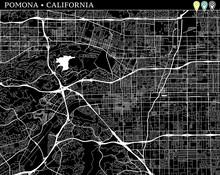 Simple Map Of Pomona, California