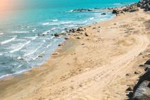 Seashore, Wild Beach With Prot...