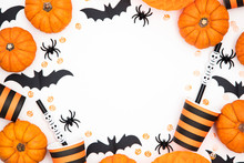 Halloween Party Background Wit...