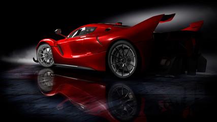 Samochód sportowy.