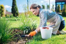 Little Hoe. Beaming Gardener W...