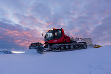 Snowplow Machine At Snowy Ski ...