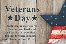 Veterans Day Message With Retr...