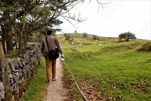 countryside walk in Buxton Wallpaper Mural