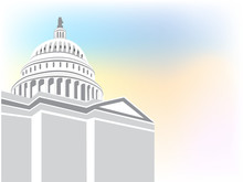 Capitol Building Vector Icon B...
