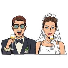 Pop Art Wedding Cartoon