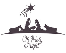 Holy Family And Animals Manger Characters