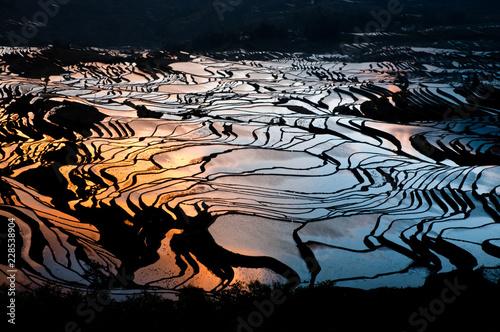 Sunrise at Yuan Yang rice terrace