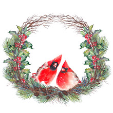 Christmas Wreath With Northern...