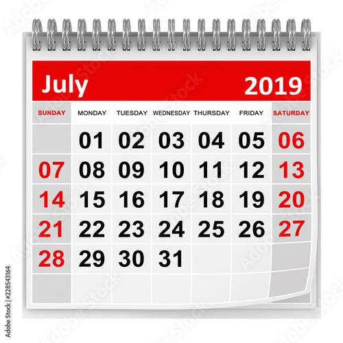 Obraz July 2019 - fototapety do salonu