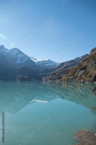 Foto op Canvas Natuur autumn hike to grosses Wiesbachhorn in glocknergruppe hohe tauern in austria