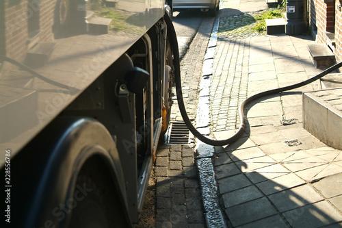 Fotografia, Obraz  Chauffage Mazout petrole energie livraison travail  camion commerce independant